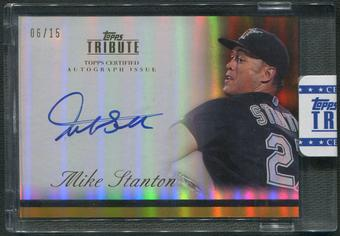 2012 Topps Tribute #MST Mike Stanton Gold Auto #06/15