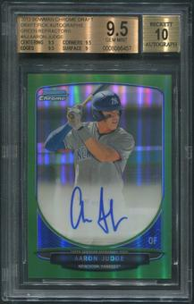 2013 Bowman Chrome Draft #AJ Aaron Judge Green Refractor Rookie Auto #53/75 BGS 9.5 (GEM MINT)