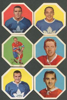 1961/62 York Peanut Butter Yellow Backs Octagons Hockey Complete Set (VG)