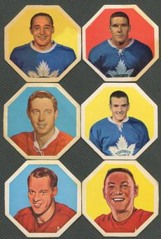 1963/64 York Peanut Butter White Backs Octagons Hockey Complete Set (VG)