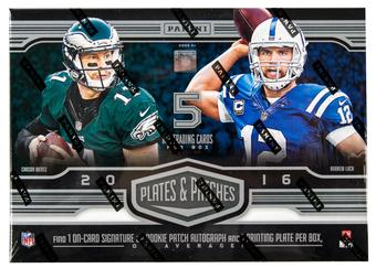 2016 Panini Plates and Patches Football Hobby Box