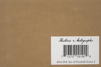 2016 Historic Autograph Art Of Football Series 2 Hobby 16-Box Case