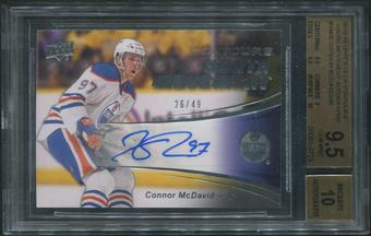 2015/16 Upper Deck Contours #YM30 Connor McDavid Youth Movement Rookie Auto #26/49 BGS 9.5 (GEM MINT)