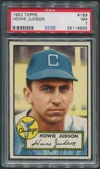 1952 Topps Baseball #169 Howie Judson White Back PSA 7 (NM)