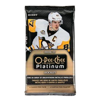 2016/17 Upper Deck O-Pee-Chee Platinum Hockey Hobby Pack