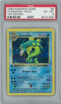 Pokemon Base Set 1 1st Edition Shadowless Single Gyarados 6/102 - PSA 6
