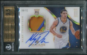 2012/13 Immaculate Collection #180 Klay Thompson Numbers Parallel Rookie Patch Auto #06/11 BGS 9.5 (GEM MINT)