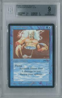 Magic the Gathering Arabian Nights Single Serendib Efreet BGS 9 MINT (9.5, 9, 9, 9.5)