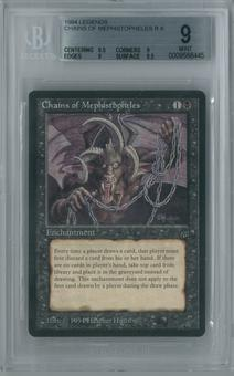 Magic the Gathering Legends Single Chains of Mephistopheles BGS 9 MINT (9.5, 9, 9, 8.5)
