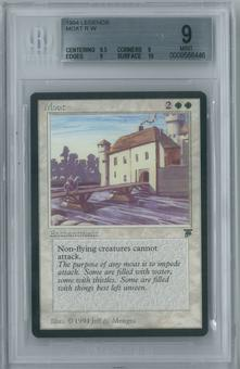 Magic the Gathering Legends Single Moat BGS 9 MINT (9.5, 9, 9, 10)