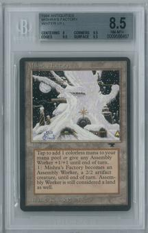 Magic the Gathering Antiquities Single Mishra's Factory (Winter) BGS 8.5 NM-MT+ (8, 9.5, 9.5, 9.5)
