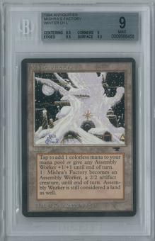 Magic the Gathering Antiquities Single Mishra's Factory (Winter) BGS 9 MINT (8.5, 9, 9.5, 9.5)