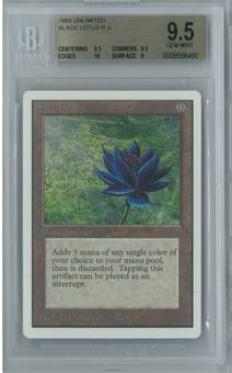 Magic the Gathering Unlimited Single Black Lotus BGS 9.5 GEM MINT (9.5, 9.5, 10, 9)