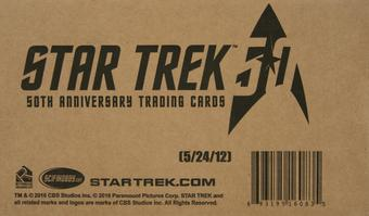 Star Trek 50th Anniversary Hobby 12-Box Case (Rittenhouse 2017)