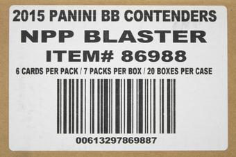 2015 Panini Contenders Baseball 7-Pack 20-Box Case