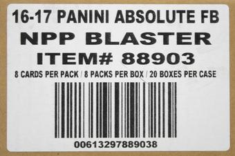 2016 Panini Absolute Football 8-Pack 20-Box Case