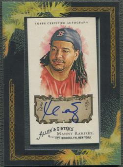 2008 Topps Allen and Ginter #MR Manny Ramirez Auto /90