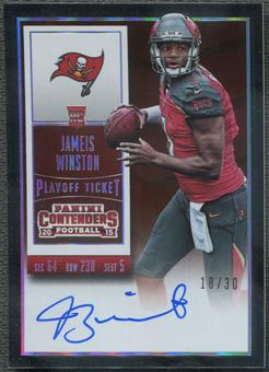 2015 Panini Contenders #217 Jameis Winston Playoff Ticket Rookie Auto #18/30