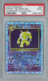 Pokemon Legendary Collection Hypno 25/110 Reverse Foil PSA 9