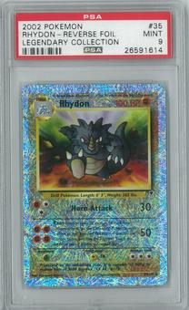 Pokemon Legendary Collection Rhydon 35/110 Reverse Foil PSA 9