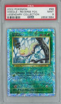 Pokemon Legendary Collection Weedle 99/110 Reverse Foil PSA 9