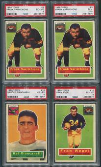 1956 Topps Football PSA Graded 15 Card Lot Varrichione Rogel