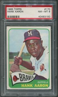 1965 Topps Baseball #170 Hank Aaron PSA 8 (NM-MT)