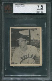 1948 Bowman Baseball #5 Bob Feller Rookie BVG 7.5 (NM+)