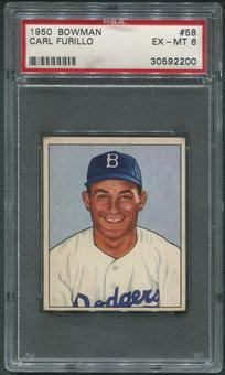 1950 Bowman Baseball #58 Carl Furillo PSA 6 (EX-MT)