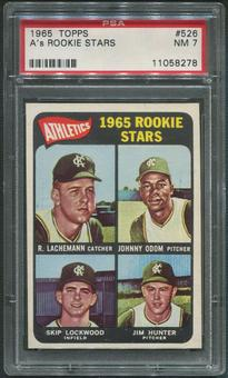 1965 Topps Baseball #526 Rookie Stars Jim Catfish Hunter Rookie PSA 7 (NM)