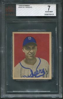 1949 Bowman Baseball #100 Gil Hodges Rookie BVG 7 (NM)