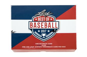2017 Leaf Best Of Baseball Hobby Box