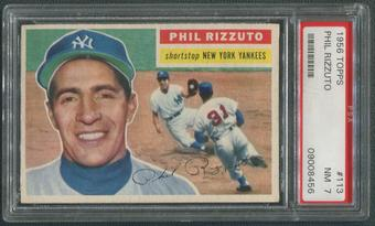 1956 Topps Baseball #113 Phil Rizzuto Gray Back PSA 7 (NM)