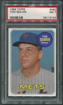 1969 Topps Baseball #480 Tom Seaver PSA 7 (NM)