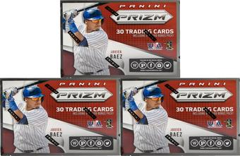 2015 Panini Prizm Baseball 6-Pack Box (Lot of 3)