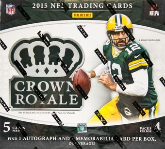 2015 Panini Crown Royale Football 4-Pack Box