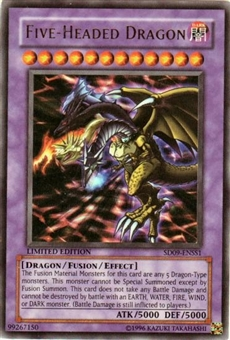 Yu-Gi-Oh SD Dinosaur's Rage Single Five Headed Dragon Ultra Rare