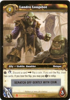 WoW Azeroth Single Landro Longshot Unscratched Loot Card