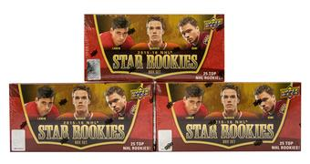 2015/16 Upper Deck NHL Star Rookies Hockey Hobby Box (Lot of 3)