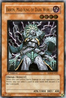 Yu-Gi-Oh Elemental Energy Single Brron, Mad King of Dark World Ultimate Rare