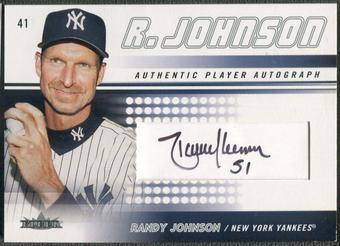 2005 Fleer #RJ1 Randy Johnson Authentic Player Auto #010/150
