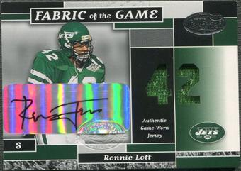 2002 Leaf Certified #34 Ronnie Lott Fabric of the Game Jersey Auto #29/42