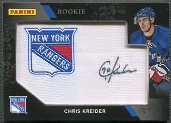 2012 Panini Black Friday #CK Chris Kreider Rookie Manufactured Patch Auto