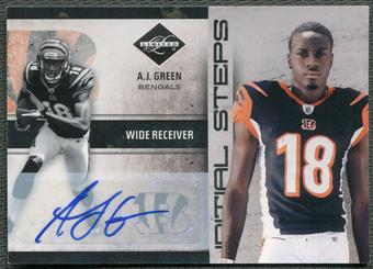 2011 Limited #23 A.J. Green Initial Steps Rookie Auto #20/25