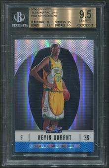 2006/07 Finest #102 Kevin Durant Blue Refractor Rookie #201/299 BGS 9.5 (GEM MINT)