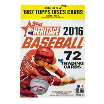 2016 Topps Heritage Baseball 8-Pack Box