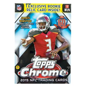 2015 Topps Chrome Football 7-Pack Box