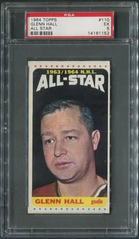 1964/65 Topps Hockey #110 Glenn Hall All Star PSA 5 (EX)