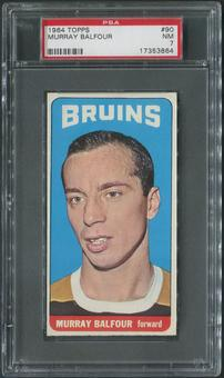 1964/65 Topps Hockey #90 Murray Balfour PSA 7 (NM)