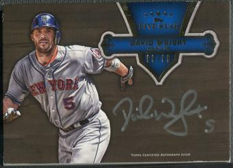 2012 Topps Five Star #DW David Wright Silver Ink Auto #99/99